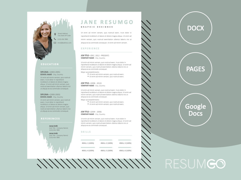 ERIS - Free Modern and Elegant Resume Template - ResumGO