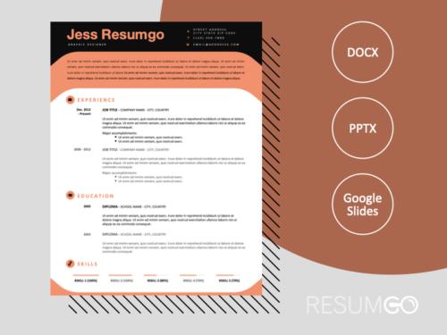 ESQUERRA - Free Modern Resume Template with black header - ResumGO