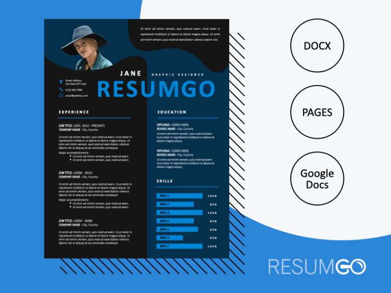 GENNADIOS - Free Creative Resume Template with a Dark Background - ResumGO