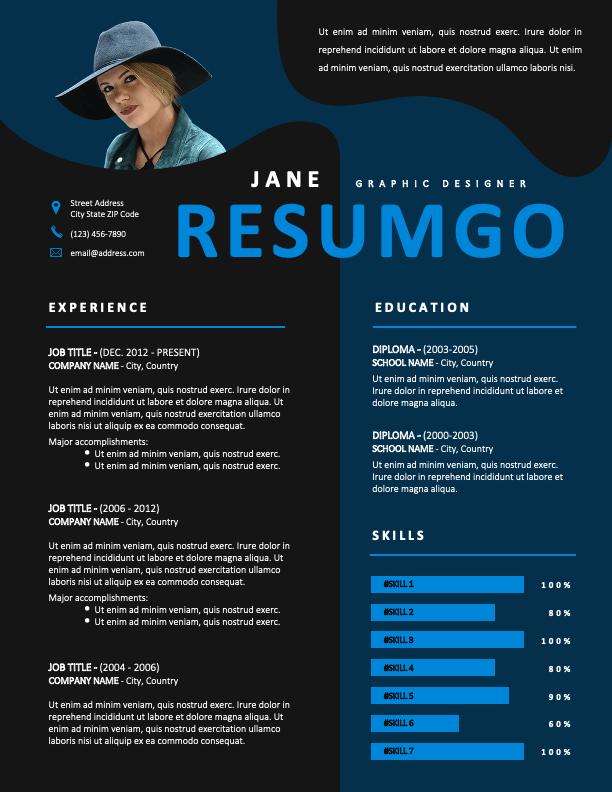 GENNADIOS - Free Creative Resume Template with Dark Background