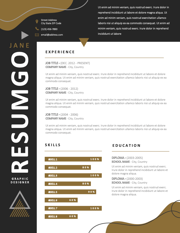 HANNAM-DONG - Free Fun and Modern Resume Template