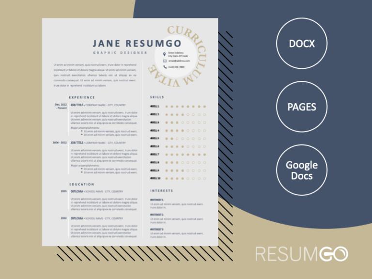 HYGINOS - Free Elegant Resume Template with 2 columns - ResumGO