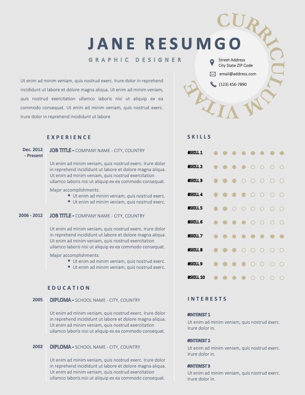 HYGINOS - Free Elegant Resume Template with 2 columns