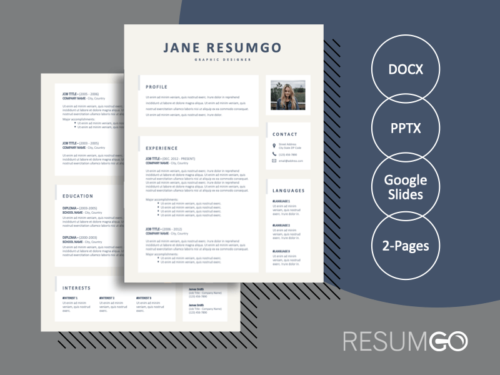 ALLSTON - Free Complete 2-Page Resume Template - ResumGO