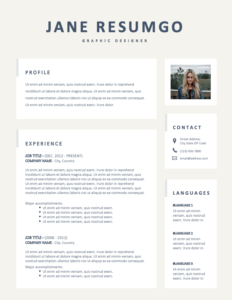 ALLSTON - Free Complete 2-Page Resume Template - Page 1