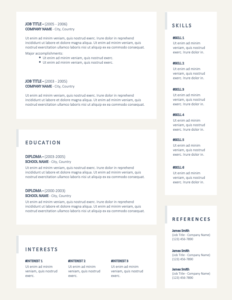 ALLSTON - Free Complete 2-Page Resume Template - Page 2