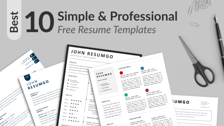Best Simple And Professional Resume Templates