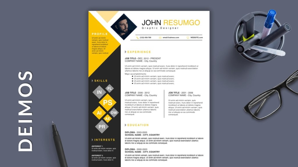 Fair Square Free Modern Resume Template