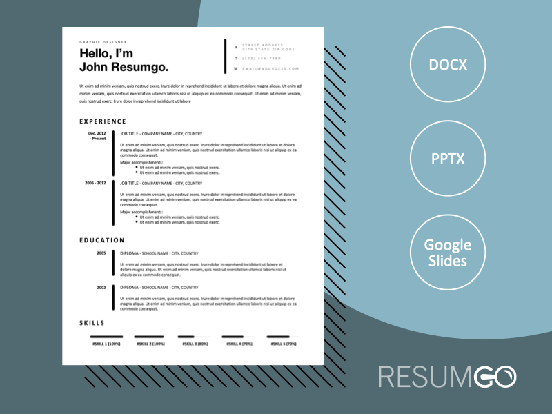 GONGGUAN - Free Classic and Professional Resume Template - ResumGO