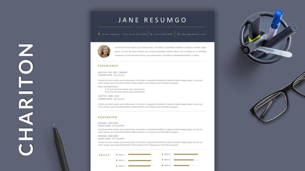 Golden Touch Free Modern Resume Template