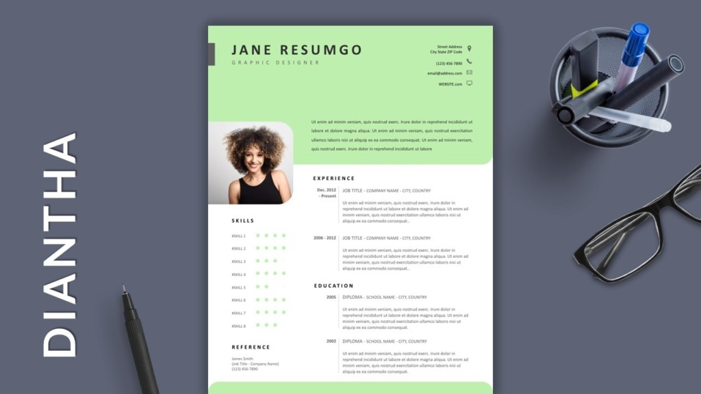 Green Free Modern Resume Template