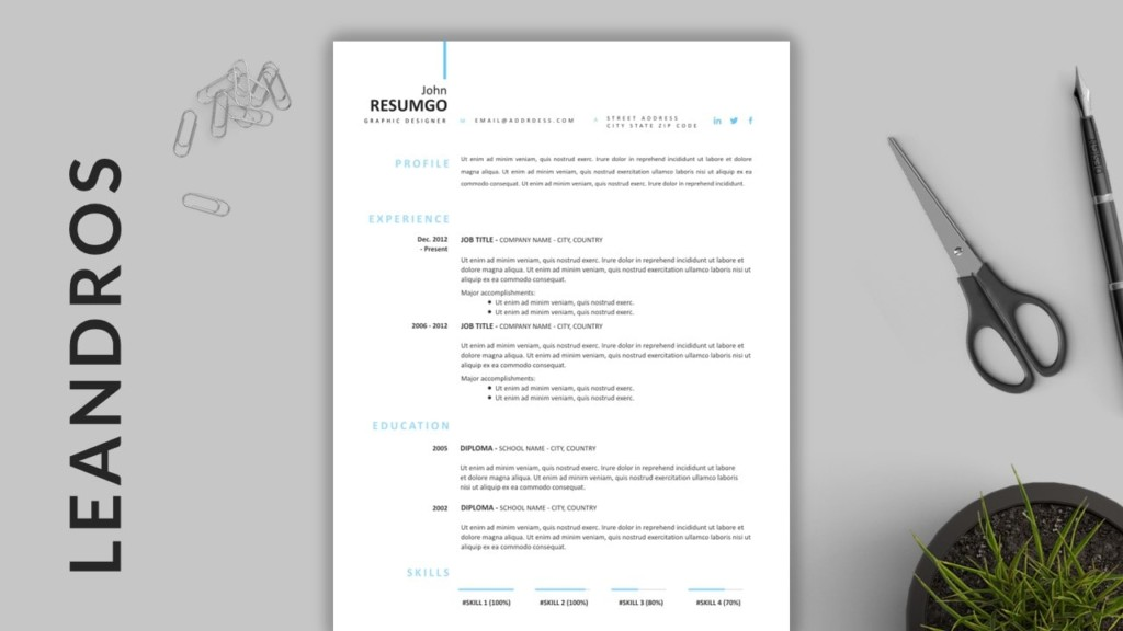 Leandros - Simple Professional Resume Template