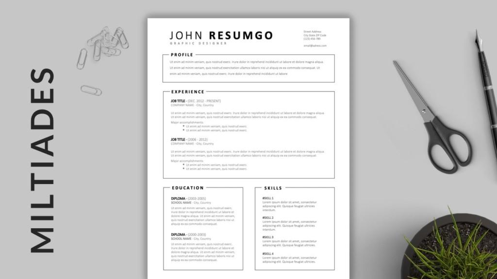 Miltiades - Framed Resume Template