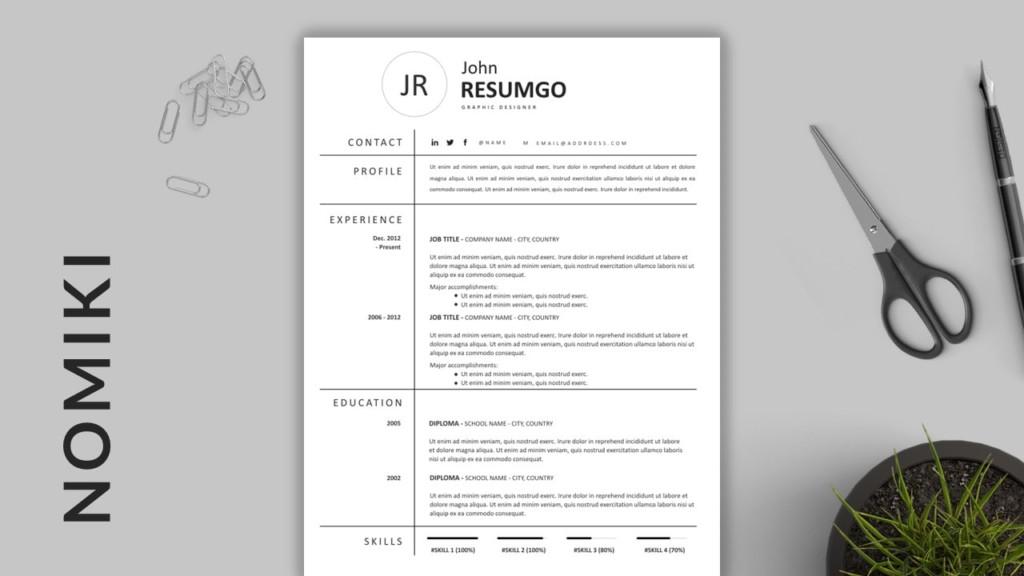 Nomiki - Grid Resume Template