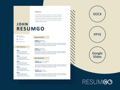 SOHO - Free Clean 2-Column Resume Template - ResumGO