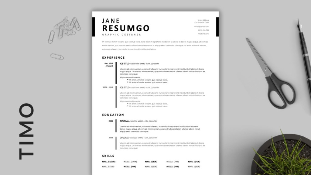 Timo - Best Simple Professional Resume Template