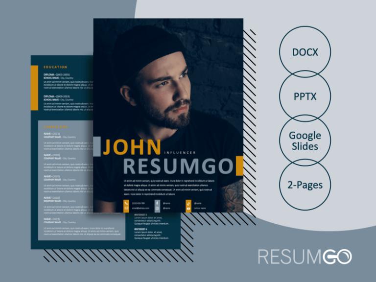 ZEEBURG - Free Creative 2-Page Resume Template - ResumGO