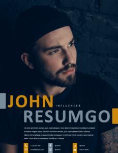 ZEEBURG - Free Creative 2-Page Resume Template - Page 1