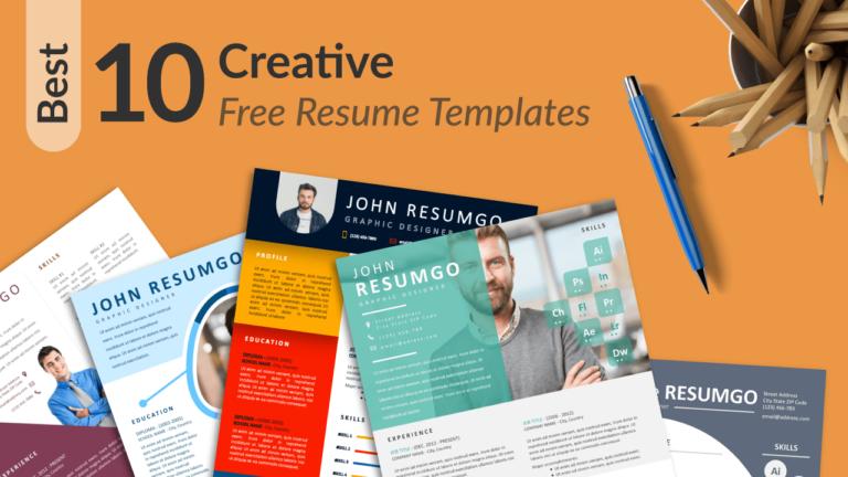 Best Creative Resume Templates by ResumGO