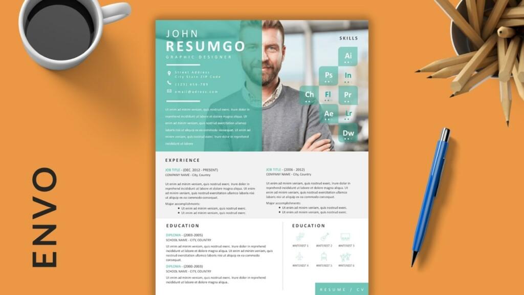 ENVO - Eye-Catching Free Resume Template - ResumGO
