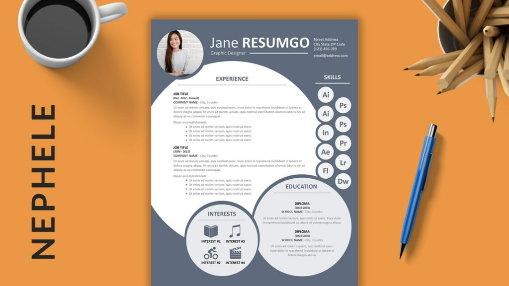 NEPHELE - Creative Free Resume Template - ResumGO