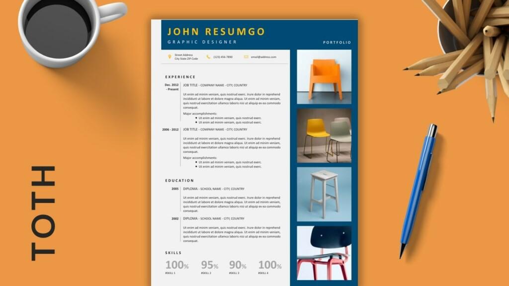 TOTH - Portfolio Creative Free Resume Template - ResumGO
