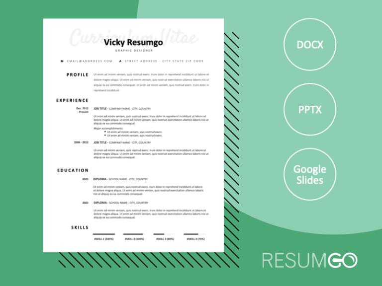 ARMANI - Free Elegant CV Template with Plain White Background - ResumGO
