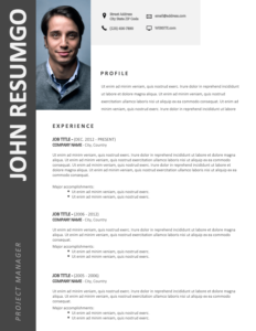 AZARIAH - Free 2-Page CV Template with Gray Left Sidebar - First Page