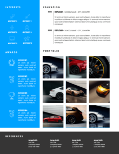 DENVER - Free 2-Page CV Template with Sky-Blue Left Sidebar - Second Page
