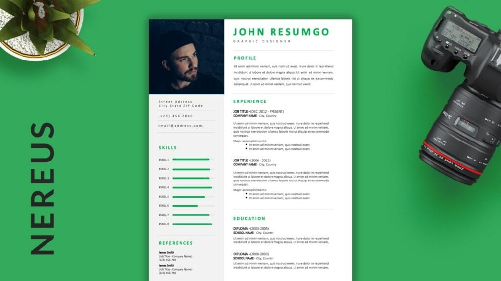 Nereus - Free Professional Modern Resume Template