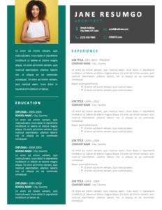 SKYLER - Free 2-Page CV Template with Portfolio - First Page