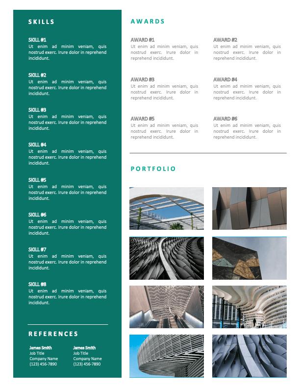 SKYLER - Free 2-Page CV Template with Portfolio - Second Page