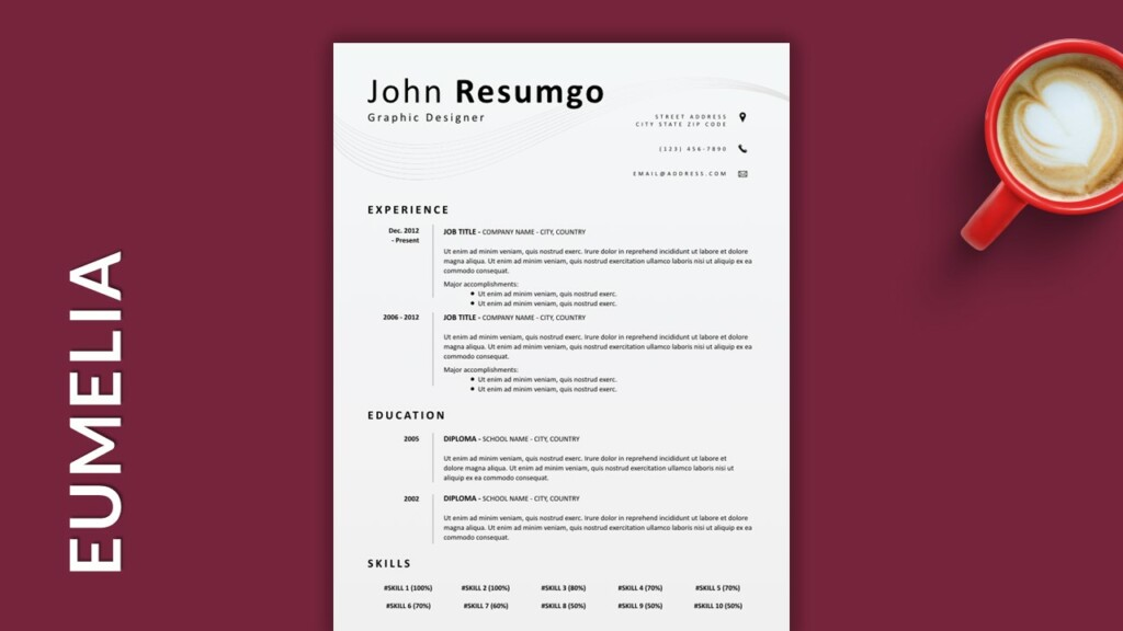 Simple and Classy Single-Column Free Resume Template