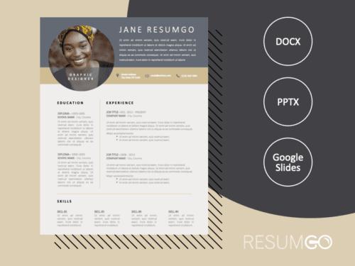 YAEL - Free Silver and Gold CV Template - ResumGO