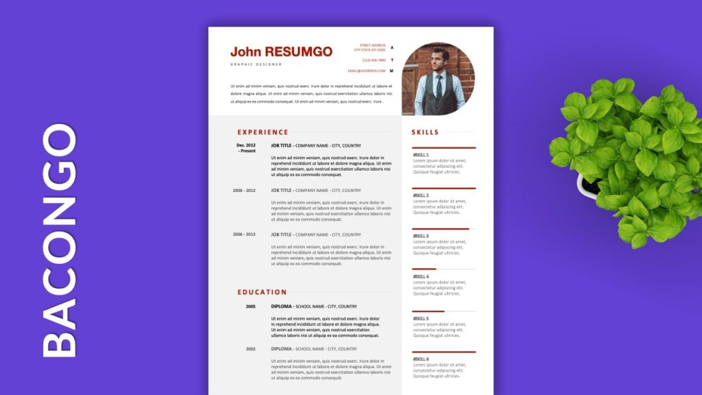 BACONGO - Free Resume Templates to Highlight your Skills