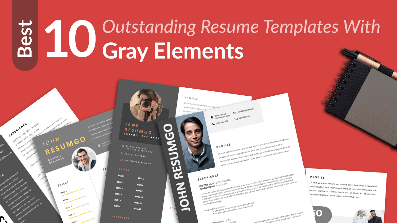 Best Free Resume Templates With Gray Elements