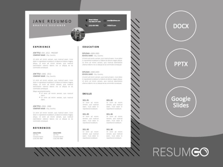EASTYN - Free Sharp and Classy Resume Template - ResumGO