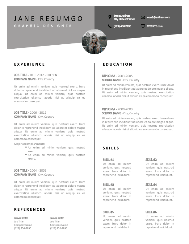 EASTYN - Free Sharp and Classy Resume Template
