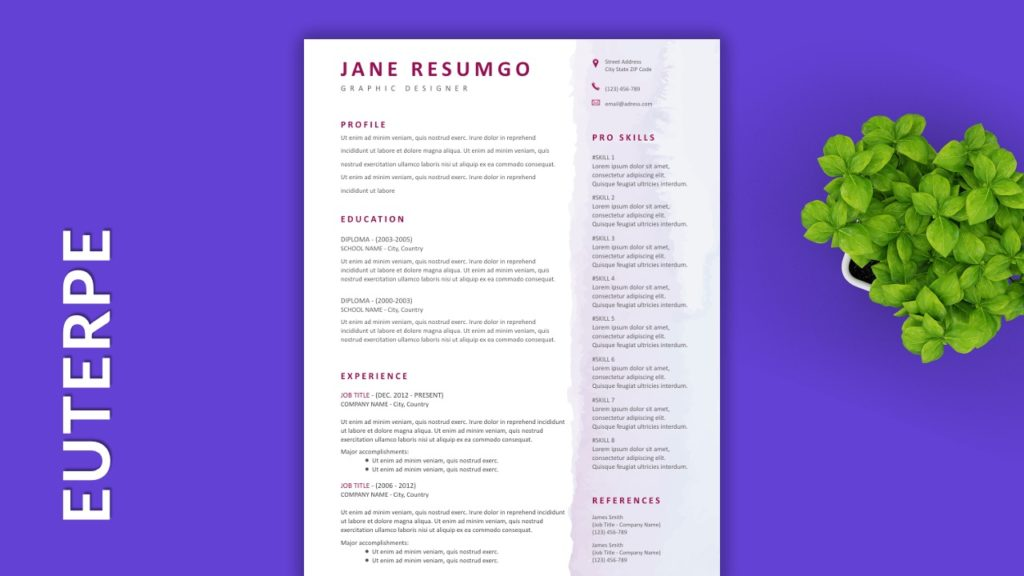 EUTERPE - Free Resume Templates to Highlight your Skills
