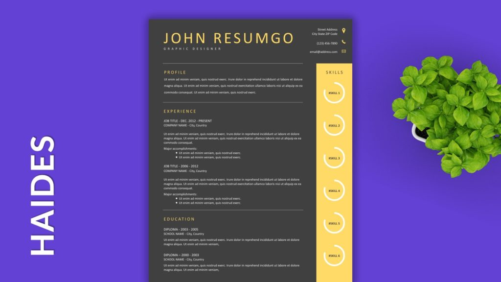HAIDES - Free Resume Templates to Highlight your Skills