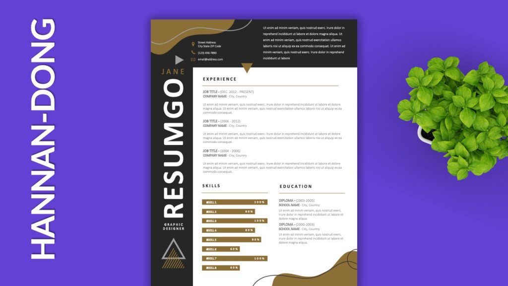 HANNAN-DONG - Free Resume Templates to Highlight your Skills