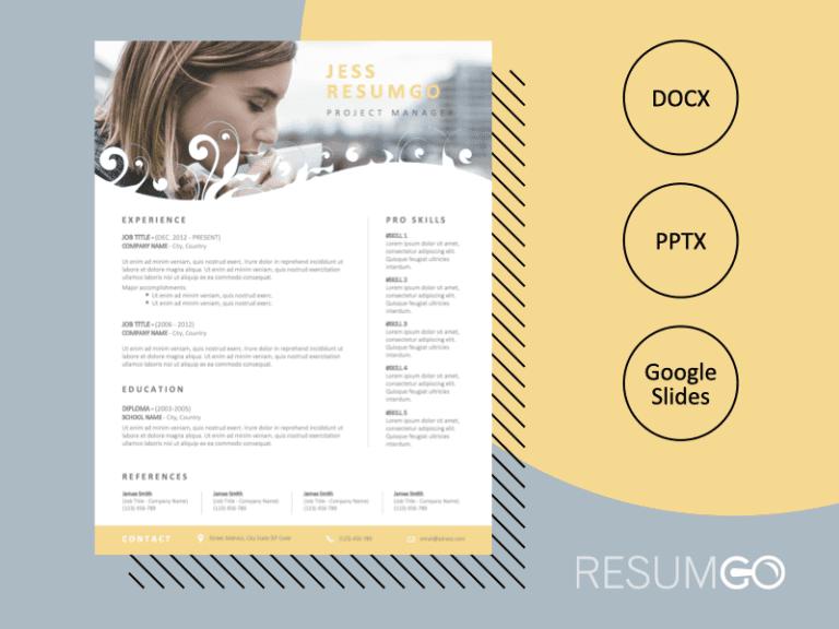 INDIANA - Creative and Stylish Resume Template - ResumGO