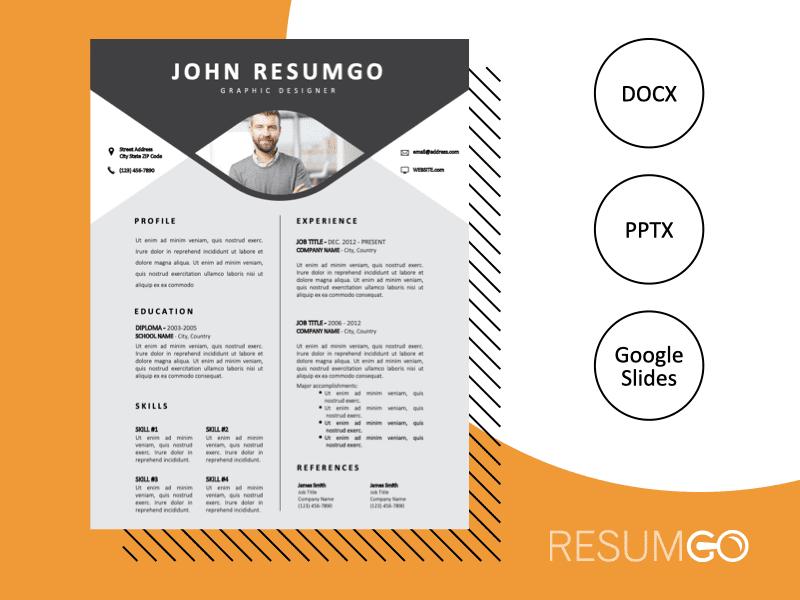 JACKIE - Free Strong Original Resume Template - ResumGO