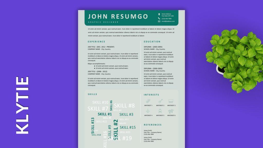 KLYTIE - Free Resume Templates to Highlight your Skills