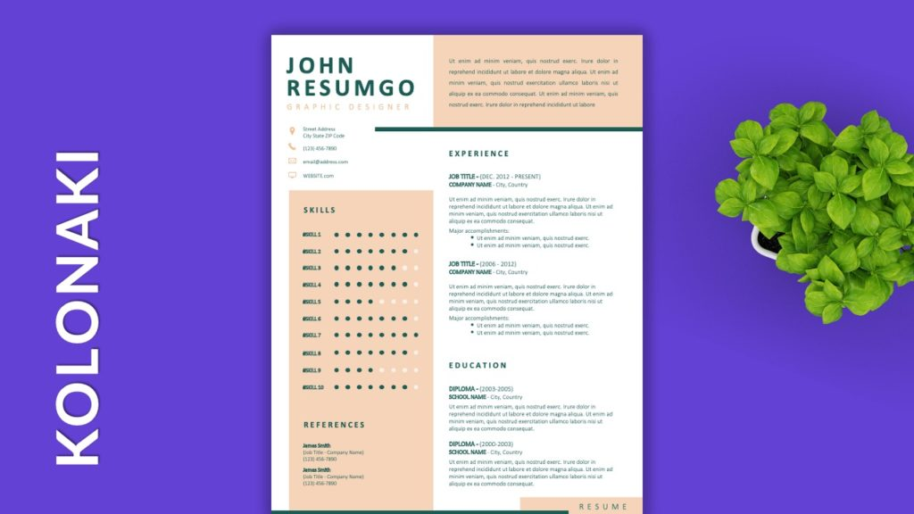 KOLONAKI - Free Resume Templates to Highlight your Skills