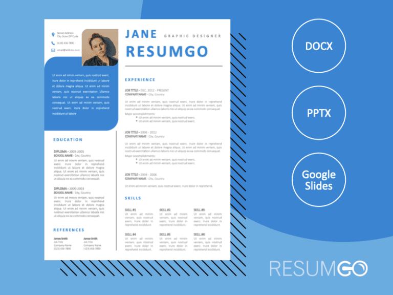 KYLIN - Free Fancy Blue Resume Template - ResumGO