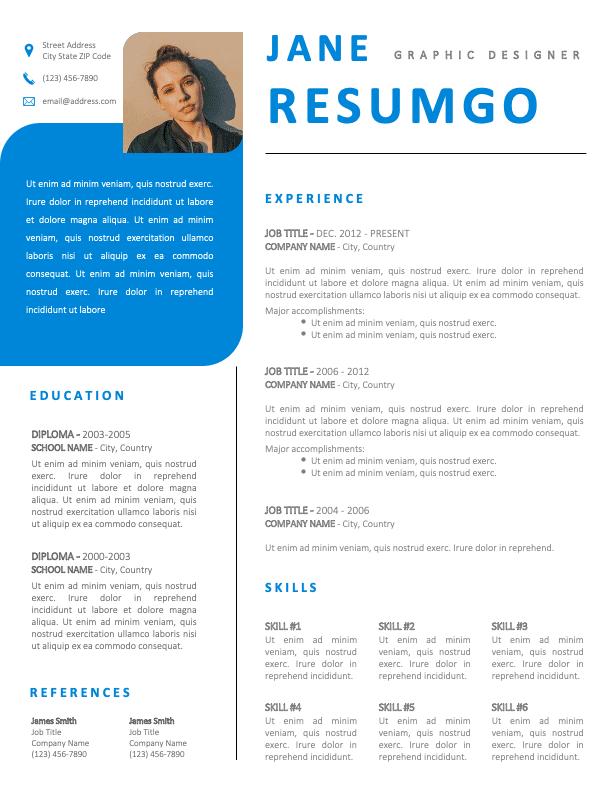 KYLIN - Free Fancy Blue Resume Template
