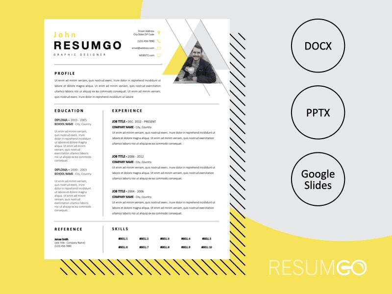 MARLO - Free Geometric Resume Template - ResumGO