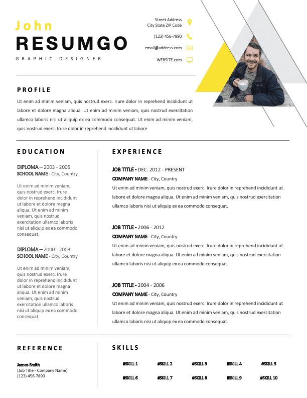 MARLO - Free Geometric Resume Template