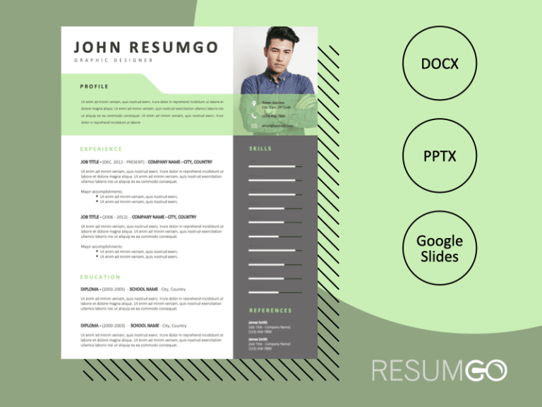 OCEAN - Free Fresh Resume Template - ResumGO